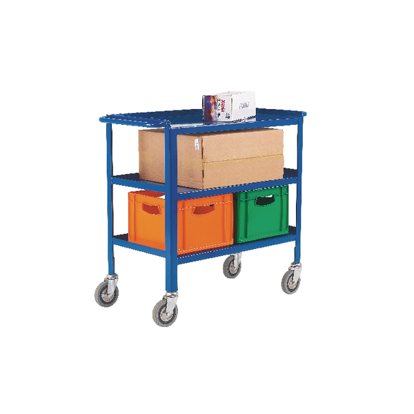 VFM Blue Service Trolley 3-Tier With 150mm Castors 306749