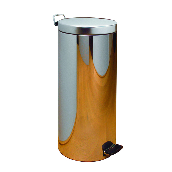 Chrome Pedal Bin 20 Litre 660x250mm 311729