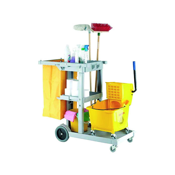 MultiPurpose Janitorial Trolley Grey W500 x D970 x H1140mm MWJT00
