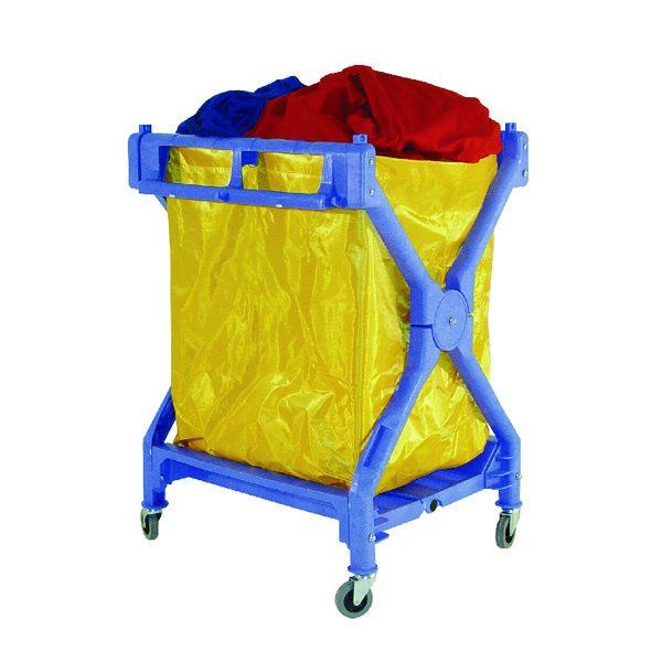 VFM Yellow Folding Laundry Trolley 314176
