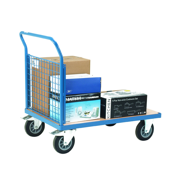 VFM Blue Premier Platform Truck Single Mesh 1200 x 800mm 315624