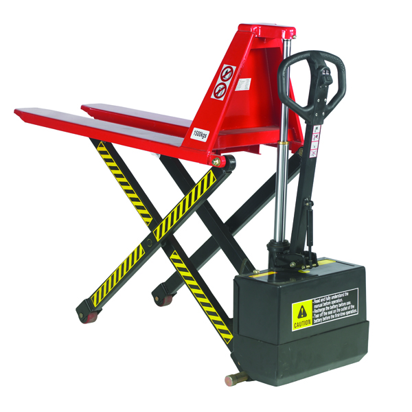 Red Pallet Truck Electric Lift 520x1140mm 318030