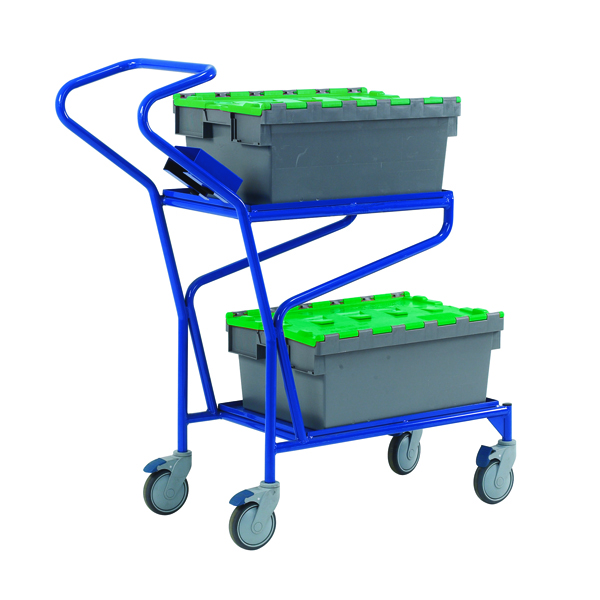 VFM Blue Order Picking Trolley 321870