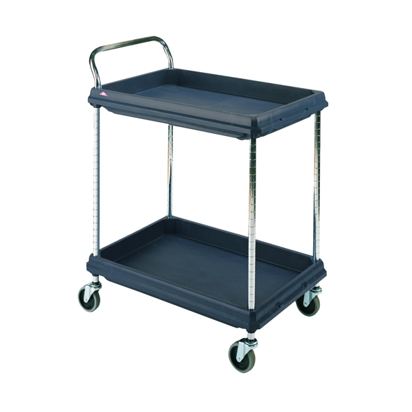 Deep Ledge 2 Tier Black 832x546x1041mm Trolley 322441