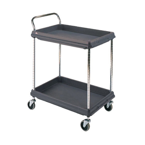 Deep Ledge Trolley 2 Tier Black H1041x W984 x D689mm 322447