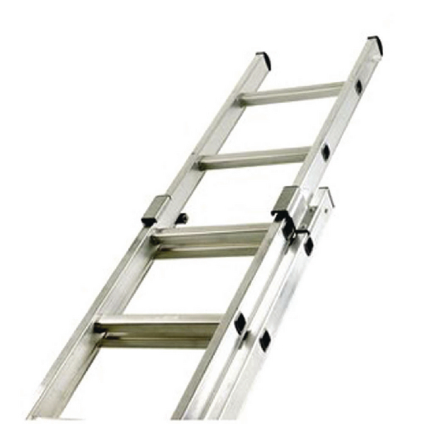 Aluminium Double Section 20 Rung Push Up Ladder 323141