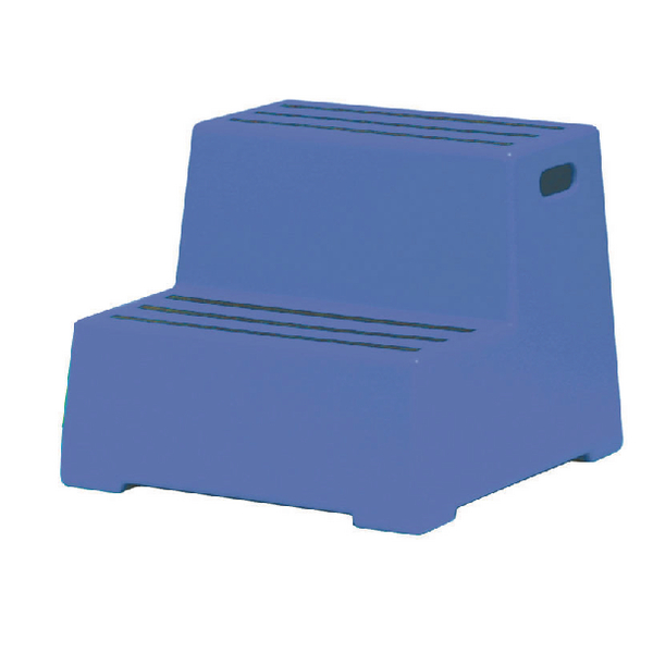 Blue Plastic 2 Tread Safety Step 325095