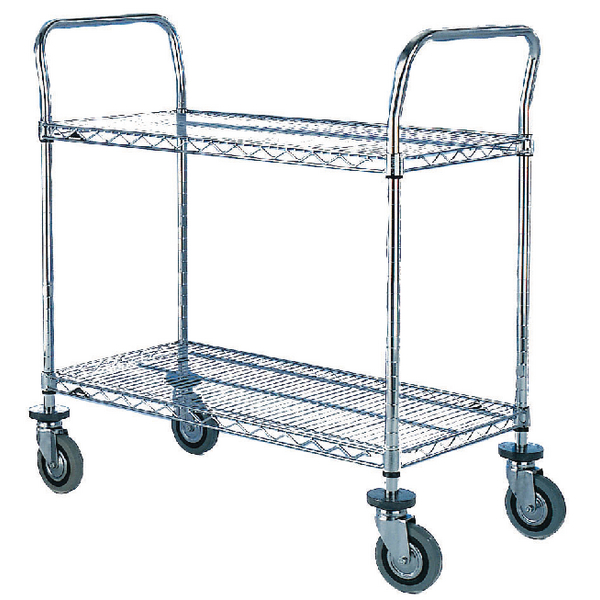 2 Tier Chrome Trolley 610x1070mm 329025