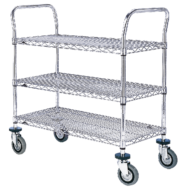 3 Tier Chrome Trolley 610x914mm 329047
