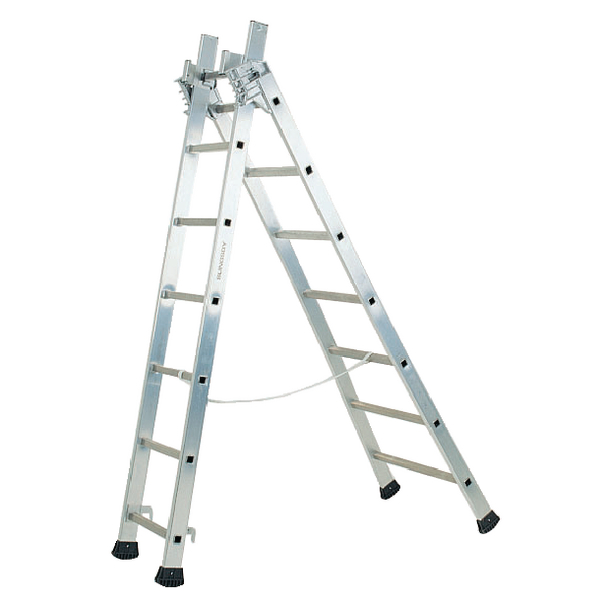 Transformable 3 Section 6m Aluminium Ladder 329051