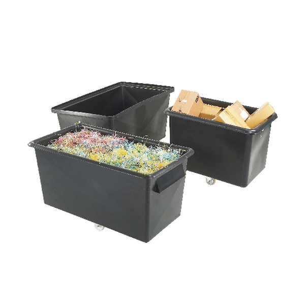 Poly Straight Sided Black Recycled Container Truck 329093