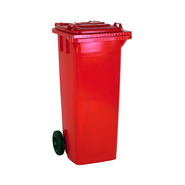 2 Wheel Red Refuse Container 140 Litre 331156