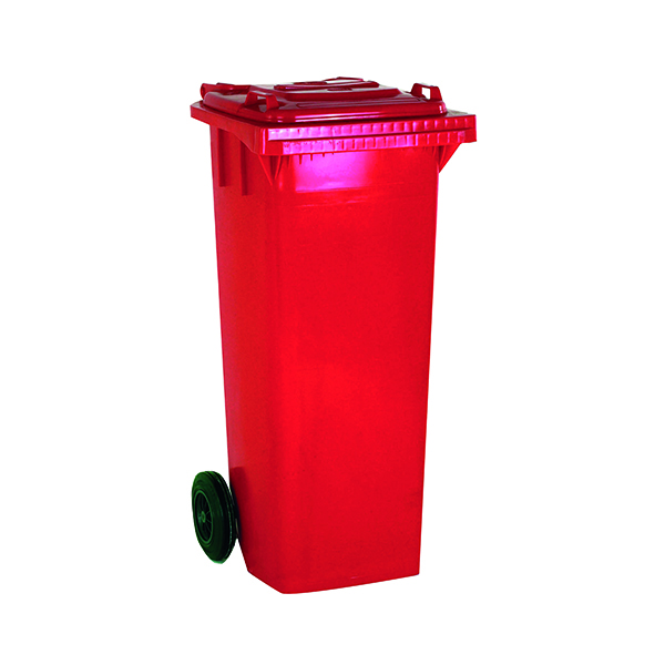 2 Wheel Red Refuse Container 240 Litre 331188