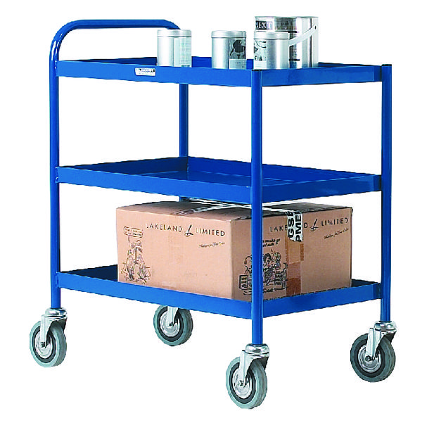 General 3 Tier Blue Purpose Trolley 331493