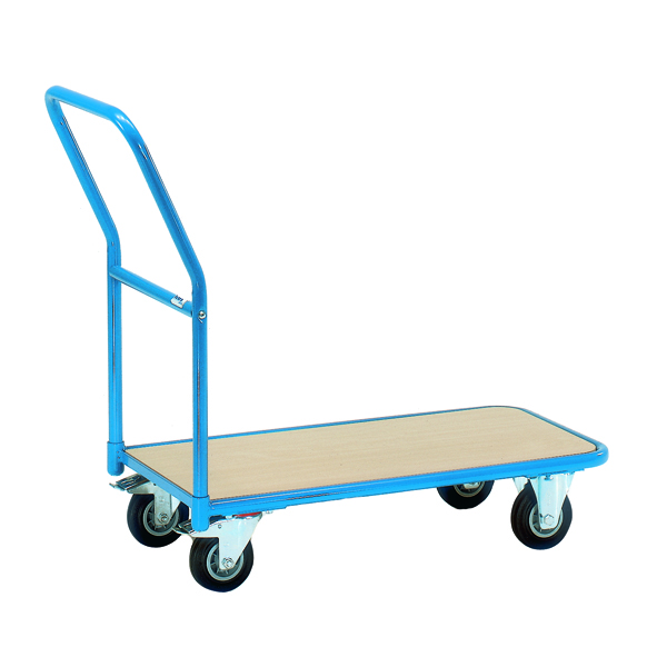 VFM Economy Store Room Trolley 200kg Blue/Brown 357363