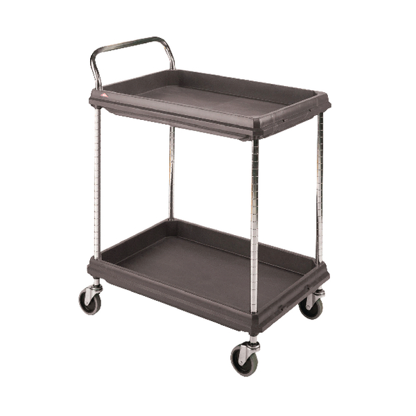 Deep Ledge 2 Tier Black W984xD689xH1041mm Trolley 375054