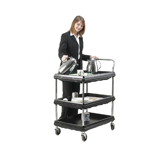 Deep Ledge 3 Tier Black W832xD546xH1041mm Trolley 375055