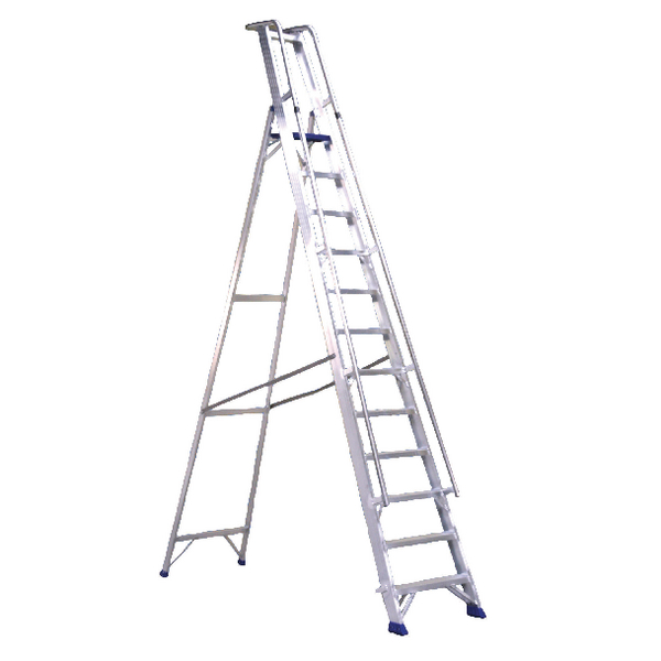 Aluminium 10 Steps Ladder With Platform 377860