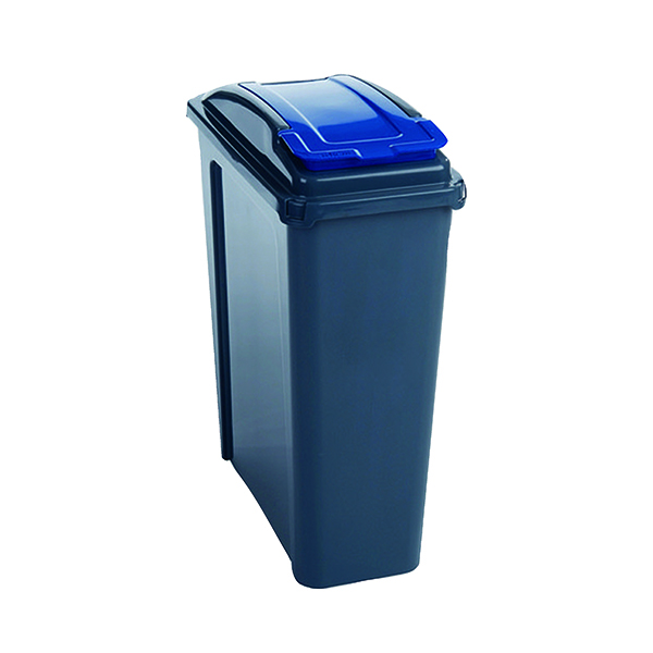 VFM 25 Litre Blue Recycling Bin With Lid 384286
