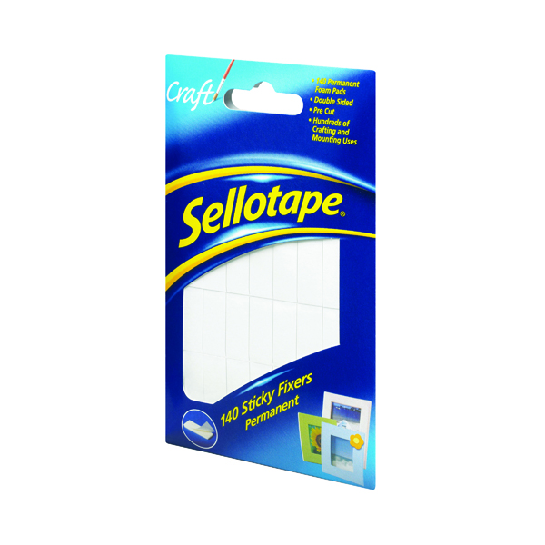 Sellotape Sticky Fixers 12 x 25mm Permanent (140 Pack) 1445422