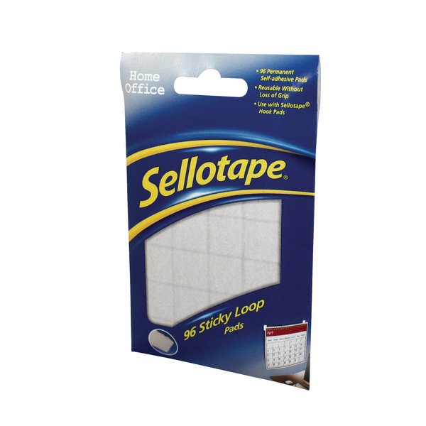 Sellotape Sticky Loop Pads (96 Pack) 1445184