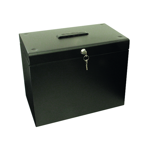 Cathedral Metal File Box Home Office A4 Black A4BK