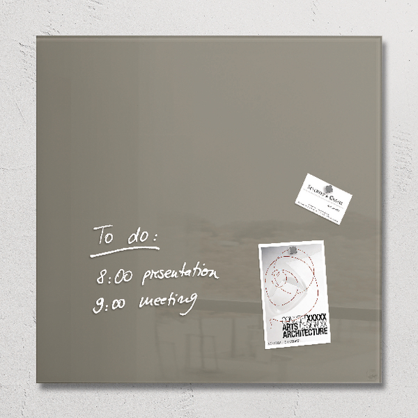 Sigel Artverum 480x480mm Taupe Magnetic Glass Board GL118