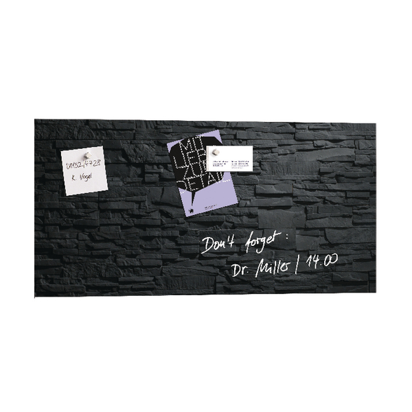 Sigel Artverum 910x460mm Slate Magnetic Glass Board GL149