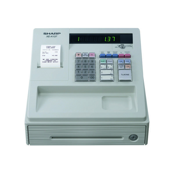 Sharp XE-A137 White Cash Register XEA137WH