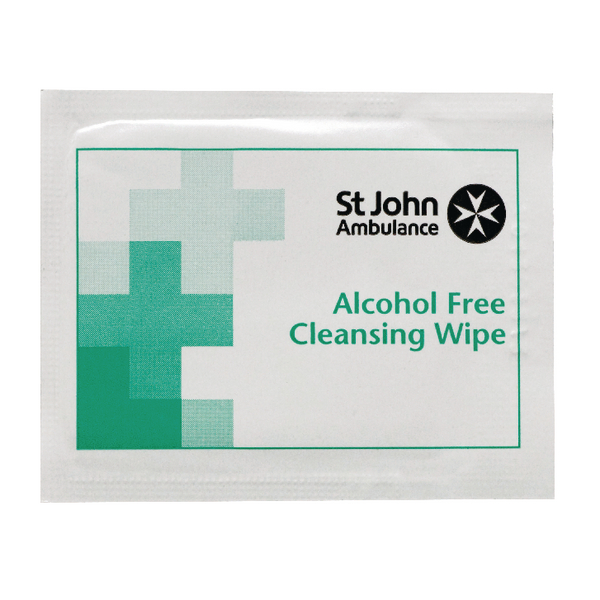 St John Ambulance Sterile Cleansing Wipes (100 Pack) F11510