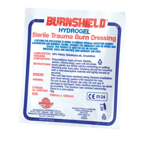 St John Ambulance Burnshield Hydrogel Dressing 100x100mm F80001