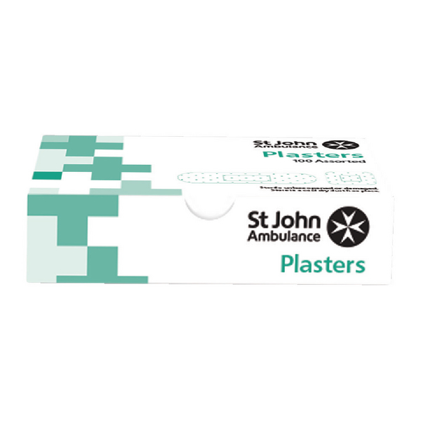 St John Ambulance Washproof Plasters Assorted Sizes (100 Pack) F94021