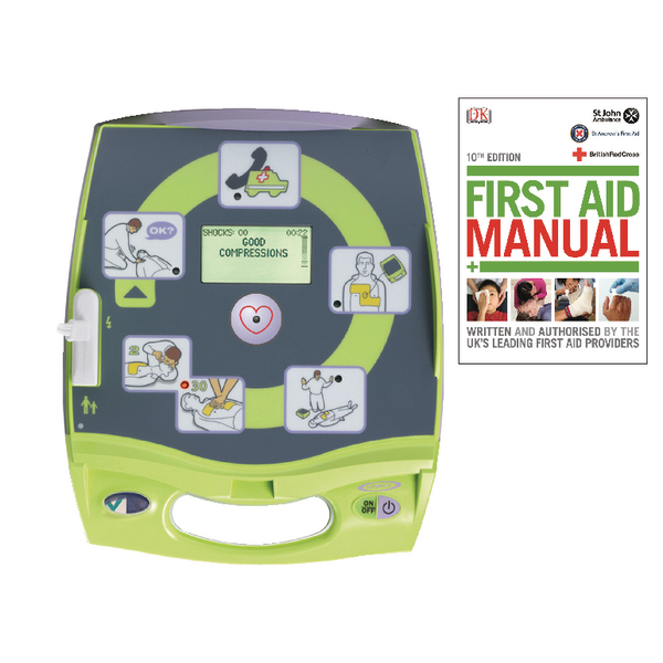 Zoll AED Plus Auto Defibrillator (Pack of 1 with Free First Aid Manual)
