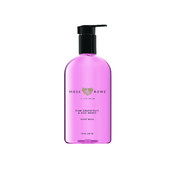 Moss and Rowe Pink Grapefruit and Acai Berry Hand Wash 400ml MRPGA400