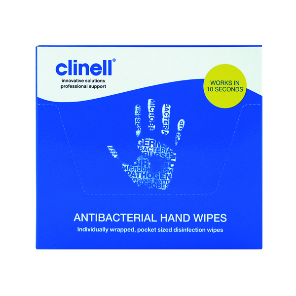 Clinell Antibacterial Hand Wipes (100 Pack) GCAHW100