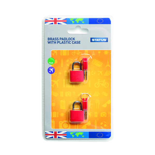 Brass Travel Padlock with Key (5 Pack) SPCPLOCK2PK5