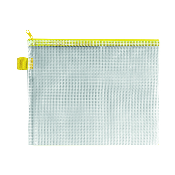 BDS Handy Zip Pouch 255 x 205mm Yellow (5 Pack) ZIPPER Yellow