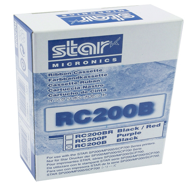 Star Black RC200B Fabric Ribbon For SP200/500 Dot Matrix Printers 30980112