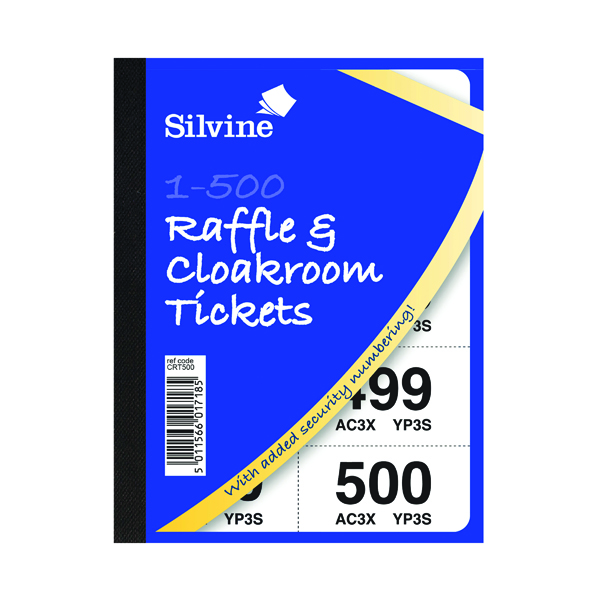 Cloakroom and Raffle Tickets 1-500 (12 Pack) 00276