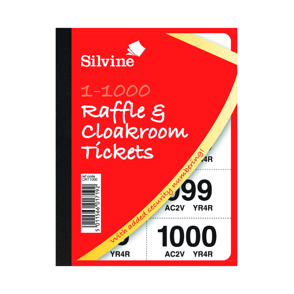 Cloakroom and Raffle Tickets 1-1000 (6 Pack) 00277