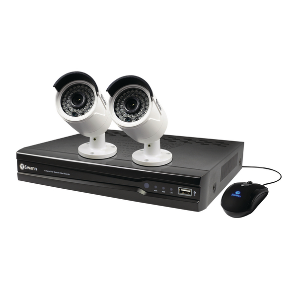 Swann 4 channel 2 camera 1TB NVR CCTV Kit SWNVK-474002-UK