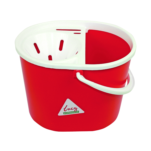 Lucy Red Mop Bucket 15 Litre L1405291