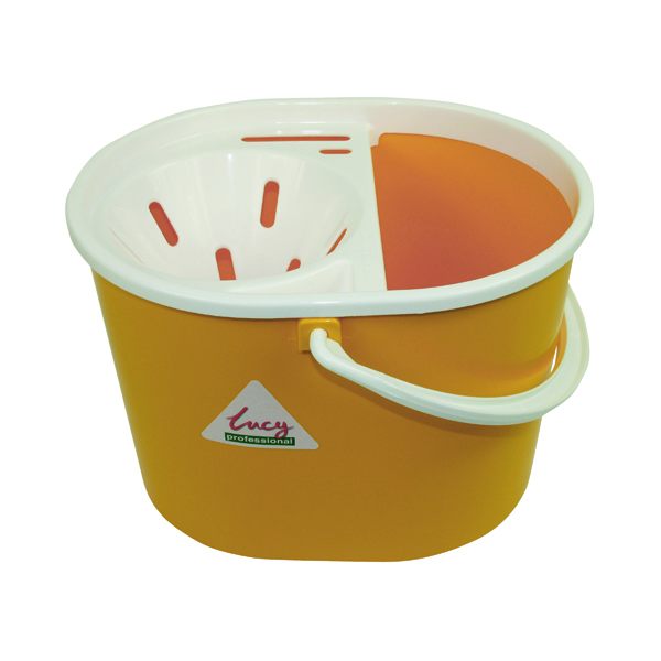 Lucy Yellow Mop Bucket 15 Litre L1405294
