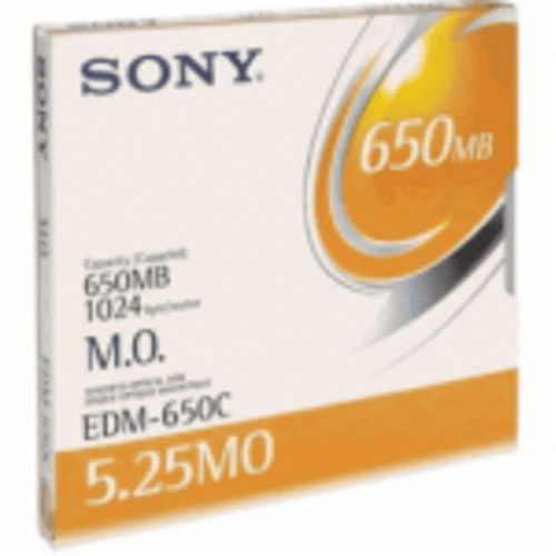 Sony Re-Writable Magneto Optical Disc 5.25 Inches 650MB (Pack of 1) EDM650N