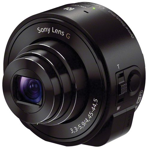 Sony DSC-QX10 Lens-Style Camera Black DSCQX10B.CE7 (Pack of 1)
