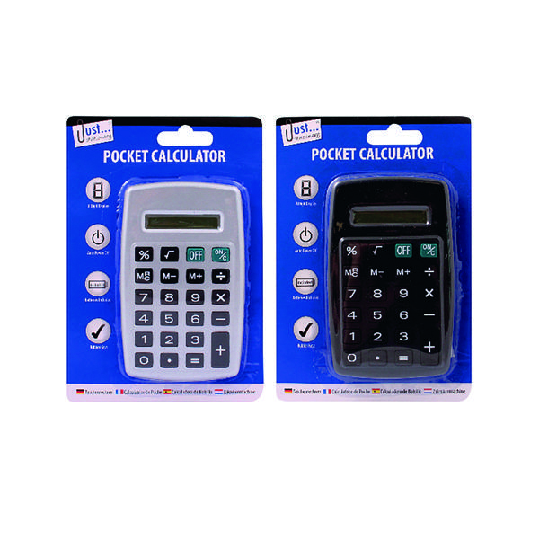Tallon Black/Silver Pocket Calculator (12 Pack) 6178