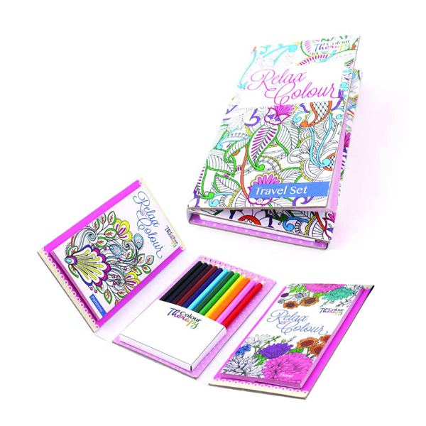 Tallon Adult Colouring Book Travel Set (6 Pack) 6844
