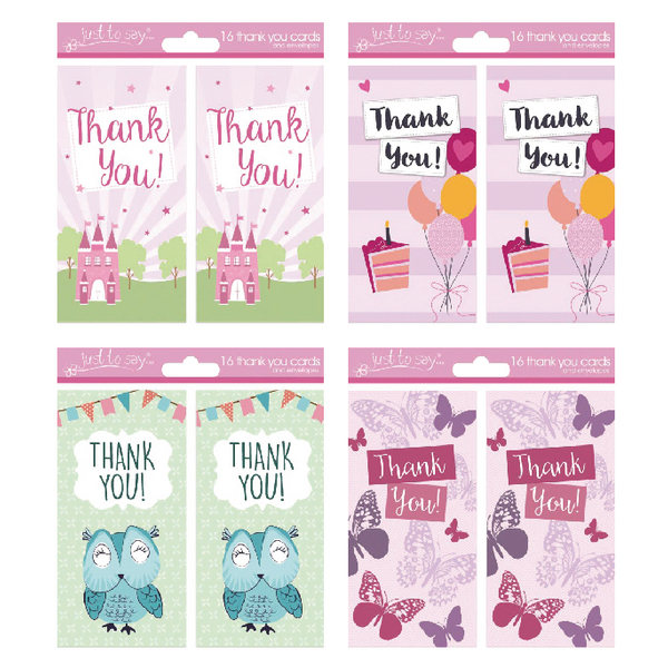 Tallon 4 Design Girl Thank You Cards (192 Pack) 4485
