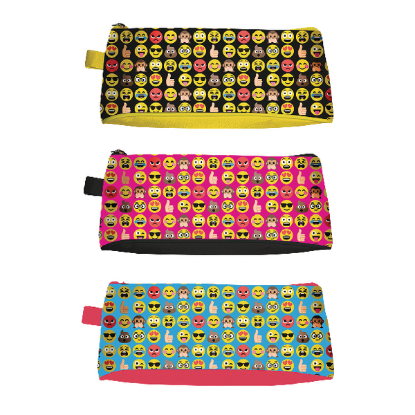 Tallon Funny Faces Pencil Case (12 Pack) 6806/48