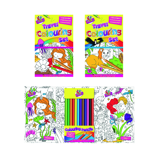 Tallon Children's Travel Colouring Set (6 Pack) 6839